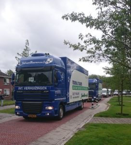 Verhuiswagen van Van Buuren Schiedam